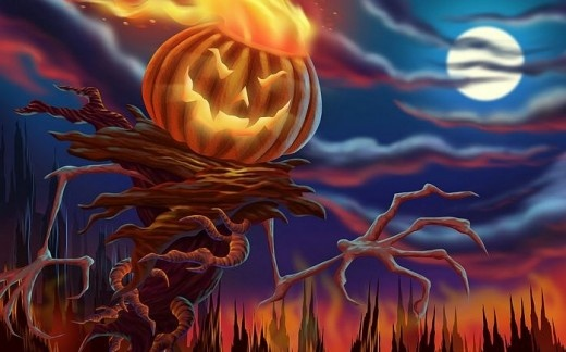 30 Really Cool Halloween Backgrounds for free download