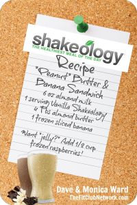 VANILLA SHAKEOLOGY RECIPE: Peanut Butter & Banana Sandwich | Remember eating these sandwiches as a kid??? Here's that taste again - guilt-free! Click to request a FREE Shakeology sample: http://www.thefitclubnetwork.com/shakeology/free-shakeology-sample/