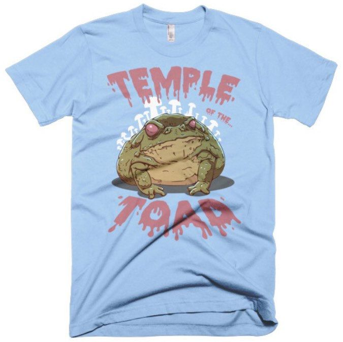 """Psychedelic Rock Toad Tee. A tribute to the sacred toad and it's magical DMT. For the  adventurous Psychonaut that couldn't be content with the plant kingdom. This shirt grants access to the """"Temple of the Toad""""."""