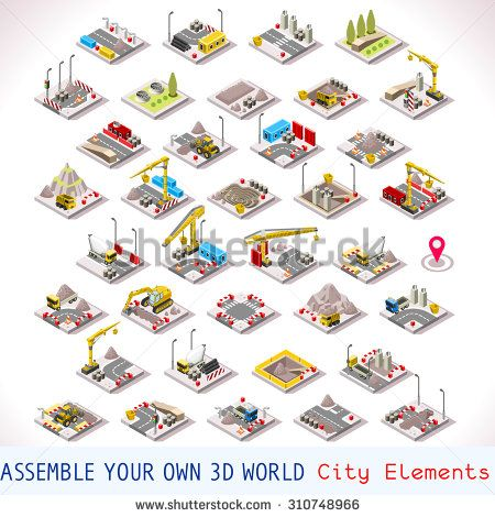Isometric Building Factory Elements 4 Game Development #gamedev #indiedev #gameinsight #gaming #androidgames #ipadgames #iphonegames http://shutr.bz/2csQwtt