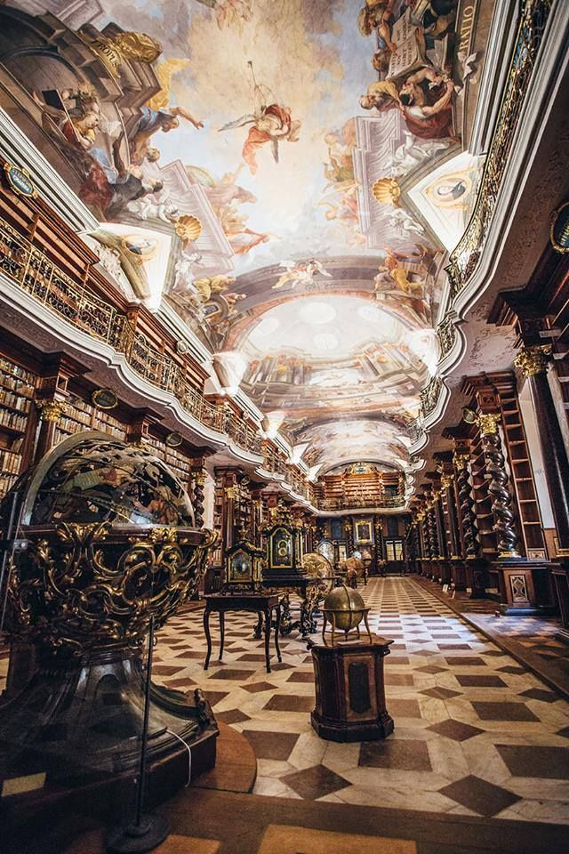 The Klementinum, Prague, Czech Republic. The World's Most Beautiful Library