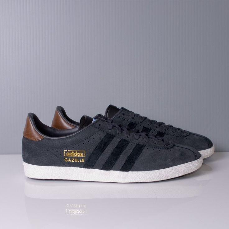 adidas gazelle og leather white blue black adidas running shoes men