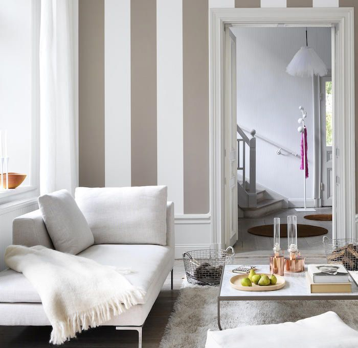 Salas con paredes rayadas buscar con google rayadas - Papel pared rayas verticales ...