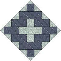 Chimney Sweep Quilt Block Pattern: Also Called Album Patch