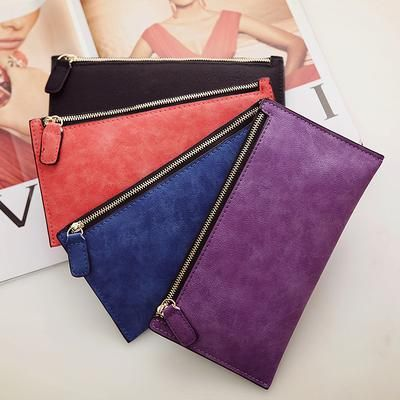 AUTEUIL PARIS Women's Purse Ladies Wallet Long Money Bags Simple Style Coin Purse Leather Thin Wallets Female Card Holder Solid