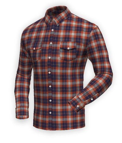 Orange flannel checked Shirt http://www.tailor4less.com/en-us/men/shirts/2401-orange-flannel-checked-shirt