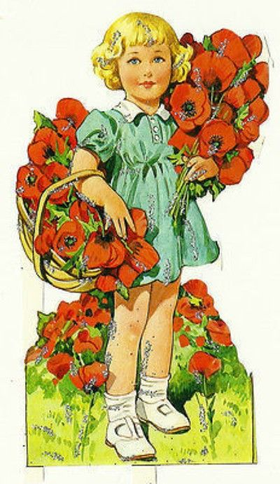 SCRAPS MLP Poppy Girl Glitter Vintage Part Sheet Glanzbilder Diecuts Decoupis (03/12/2014)