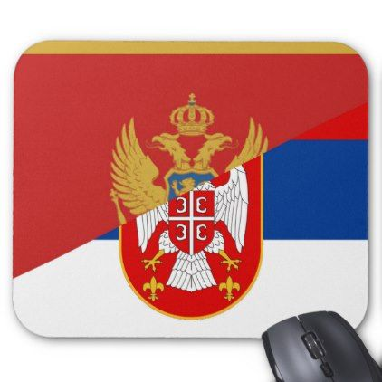 serbia montenegro flag country half symbol mouse pad - country gifts style diy gift ideas