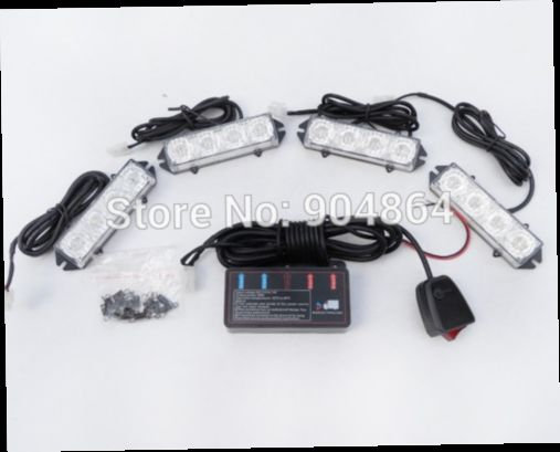 49.00$  Watch now - http://aliwar.worldwells.pw/go.php?t=1839014051 - 4X4 LED16 LED Car Strobe Light Kit LED Car Flash Strobe Light Car Truck Emergency Flashing Strobe Light