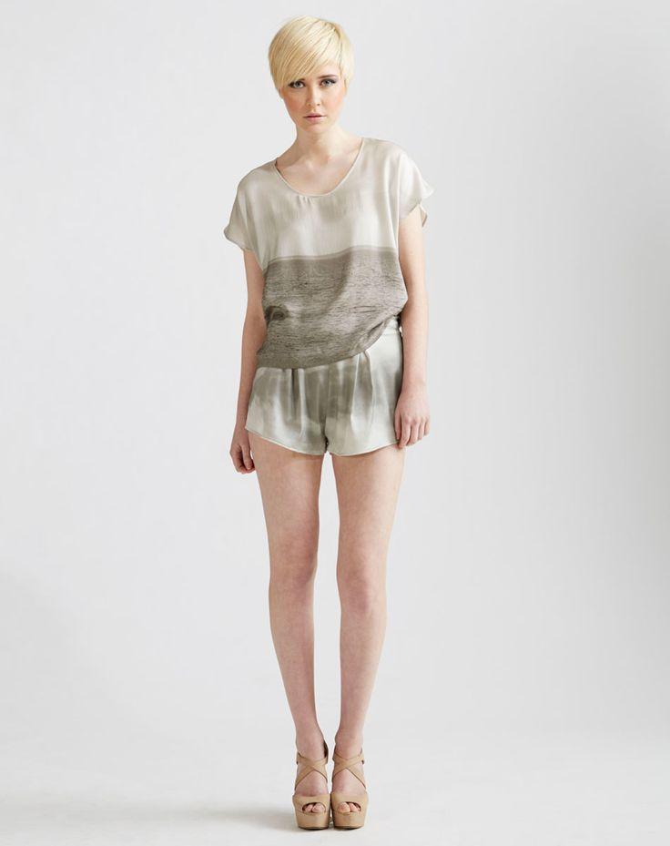 Silk Kimono Tee, Stretch Silk Shorts available online at www.jenkinsandjane.com.au
