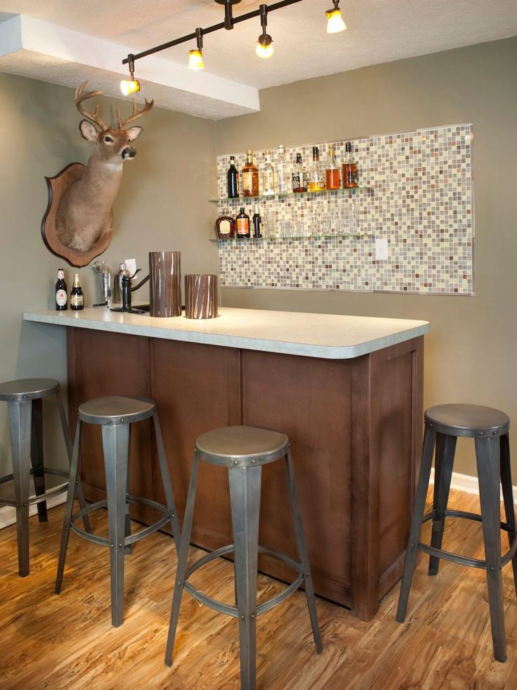 341 best home bars images on pinterest basement ideas for Home bar design ideas