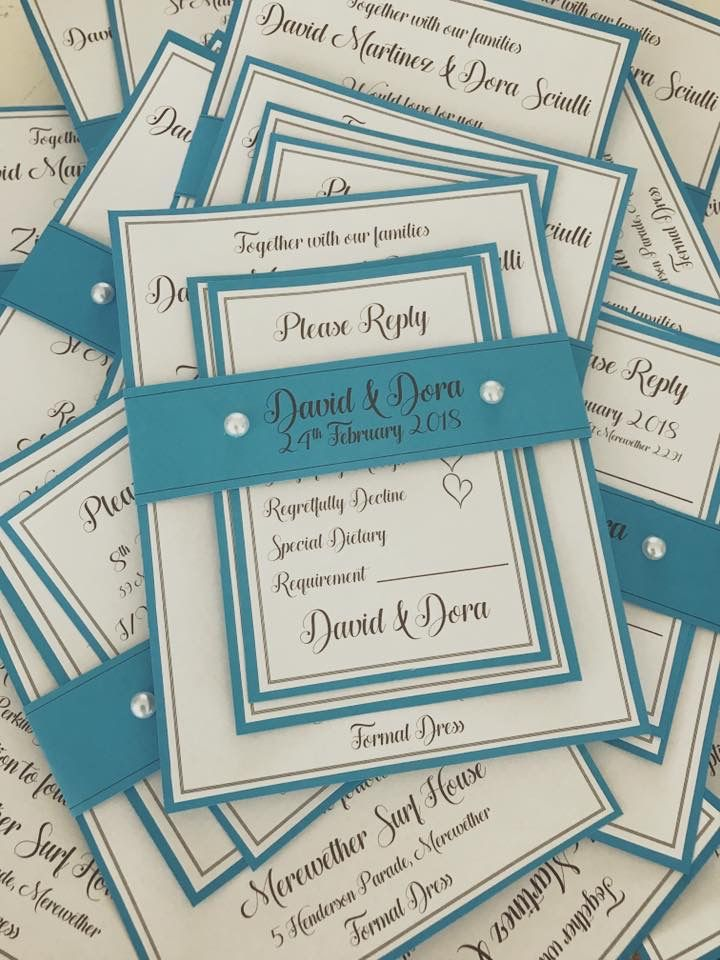 Blue..blue..blue wedding invitations