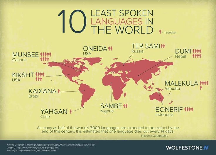 The Least Spoken Languages In The World Interesting MapsMap - No 1 language in world
