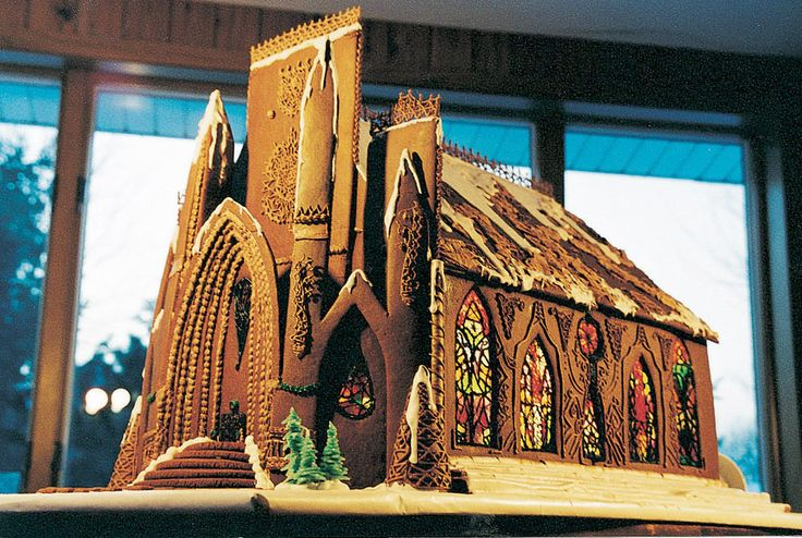 Former First-Place Winner Becky Stella of Minneapolis crafted this striking cathedral with melted Jolly Rancher candies for the stained glass and piped icing for the authentic-looking ironwork.