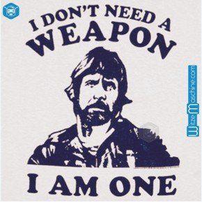 Chuck Norris Witze und Sprüche - Er ist selbst eine Waffe
