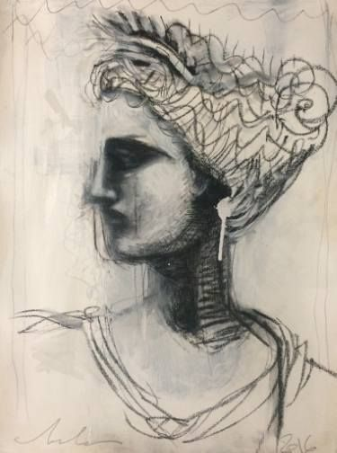 """Saatchi Art Artist melora walters; Drawing, """"The Ancients Turn Away and Weep II"""" #art"""