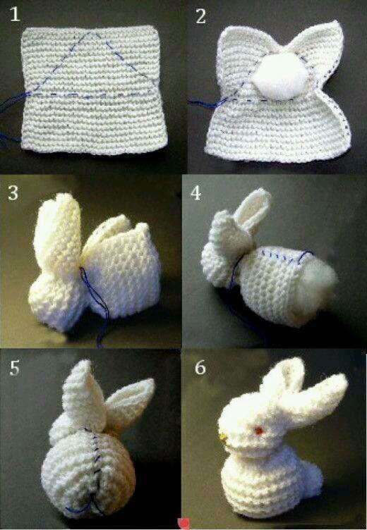 Osterhäschen   -  gehäkelt  ---  Easter bunny  -  crocheted