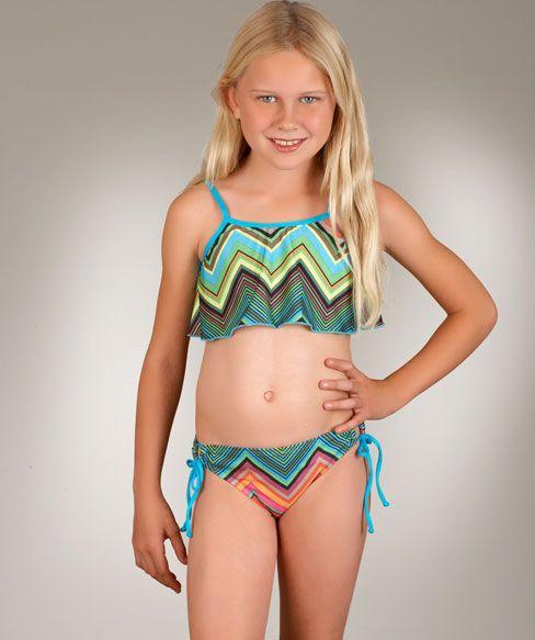 @Ella Gustafsson Moss Girls Caravan Crop Top and Tunnel Bottom Set $66.00 www.swimspot.com #kids #swimwear #swimspot