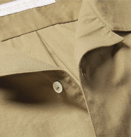 This camp-collar shirt from <a href='http://www.mrporter.com/mens/Designers/Private_White_VC'>Private White V.C.</a> exudes insouciance. A casual pick for warmer days, it's been expertly handmade in England from breezy cotton and has refined mother-of-pearl buttons. The back box pleat enhances the relaxed regular cut, which works best with slim trousers.