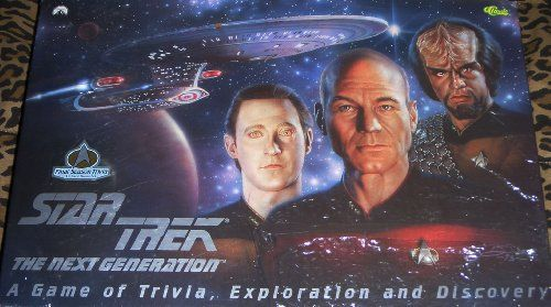 1993 Star Trek:  The Next Genertion TNG: A Game of Trivia Exploration and Discovery Board Game @ niftywarehouse.com #NiftyWarehouse #StarTrek #Trekkie #Geek #Nerd #Products