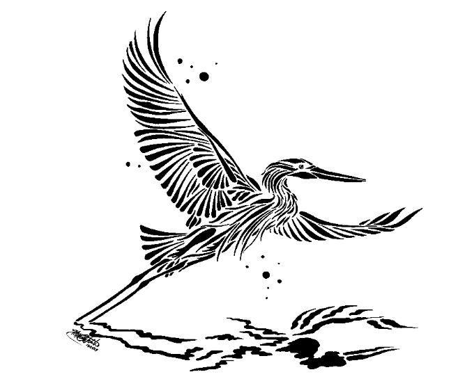 Mixed_Media_Blue_Heron_in_Flight