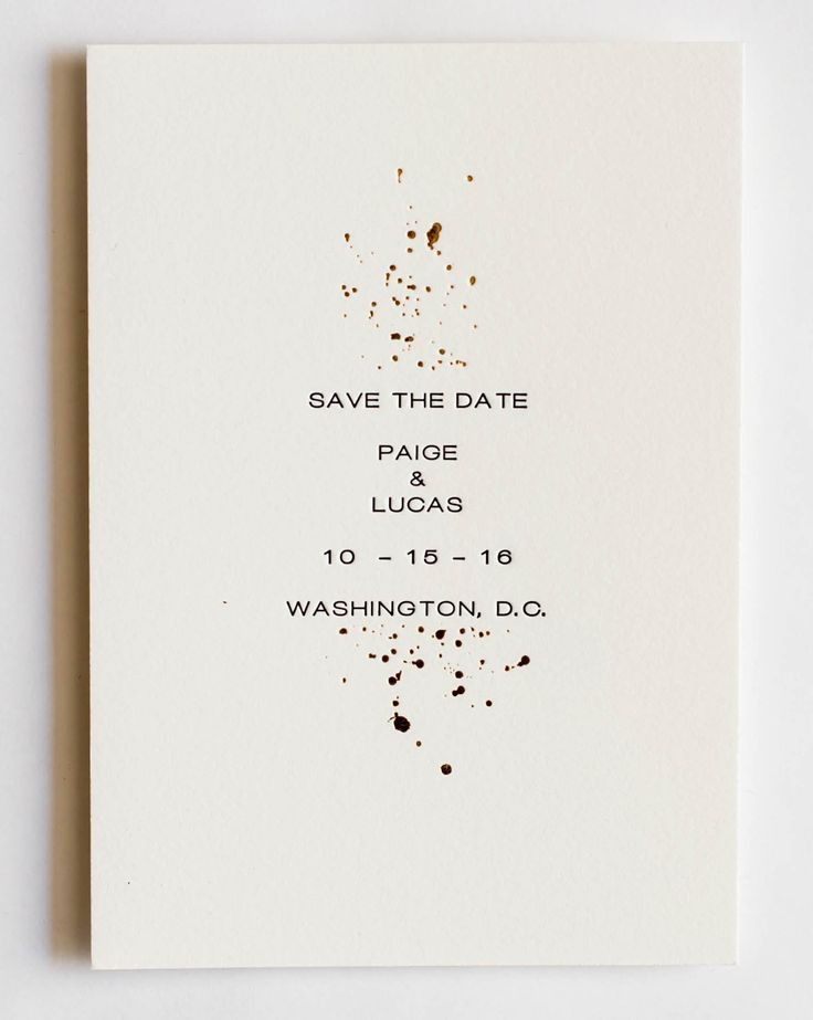 Paige Collection Gold Foil and Letterpress Wedding Save The Date
