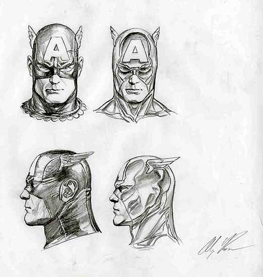 alex ross sketch face - Google Search
