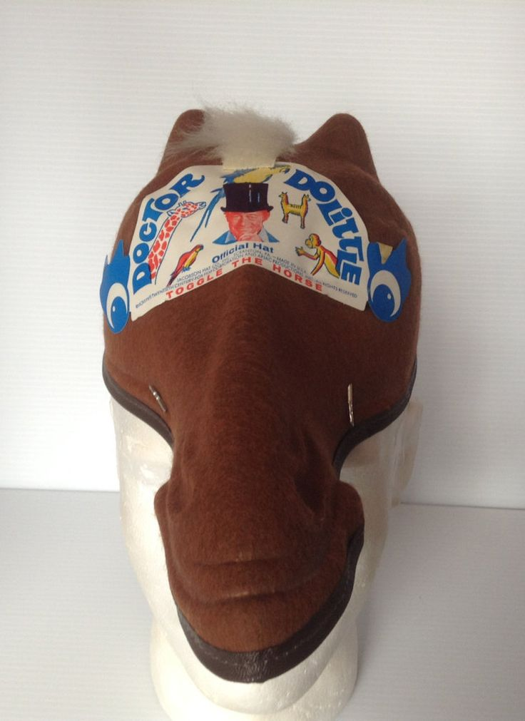 Vintage Rare Doctor Dr. Dolittle TOGGLE THE HORSE Official Hat Made in usa by afunspottoshop on Etsy