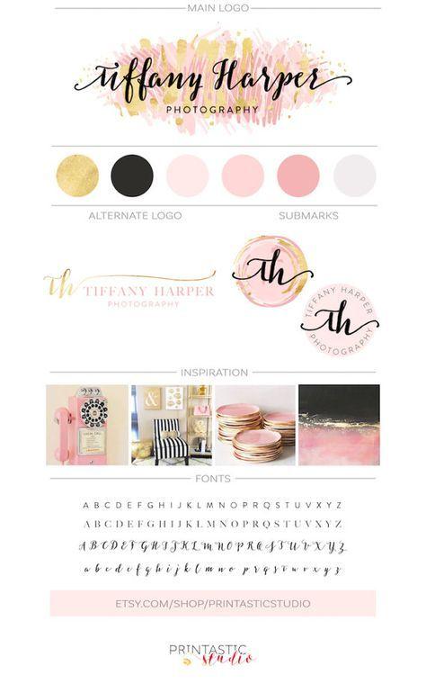 Paquete marca oro color de rosa negocio marca por PrintasticStudio