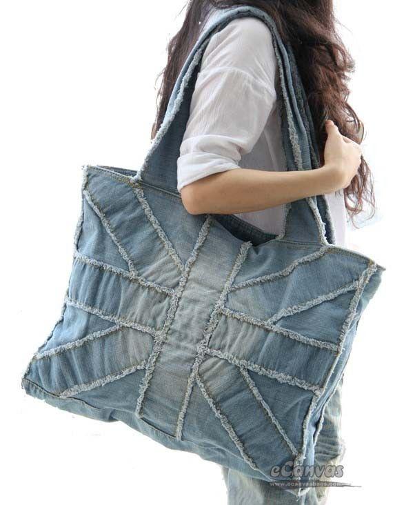 blue Plain canvas tote bag