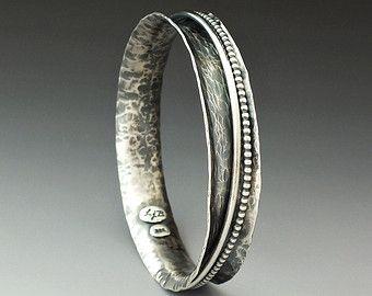 Silver Cuff Silver Bracelet Statement Cuff Metalsmith