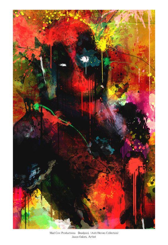 New Deadpool Art Panel Archival Quality 11x17 Art by j2artist, $30.00