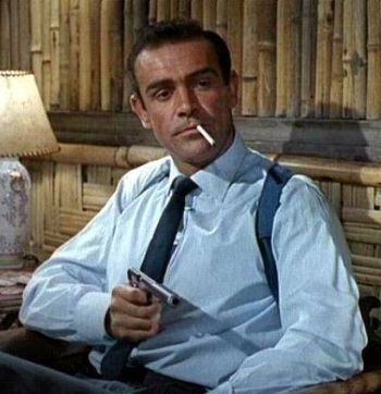 Sean Connery as James Bond, 007 in the first of the series: Dr. No in 1962