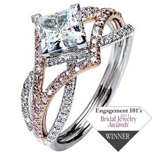 Mark Silverstein princess cut with rose gold