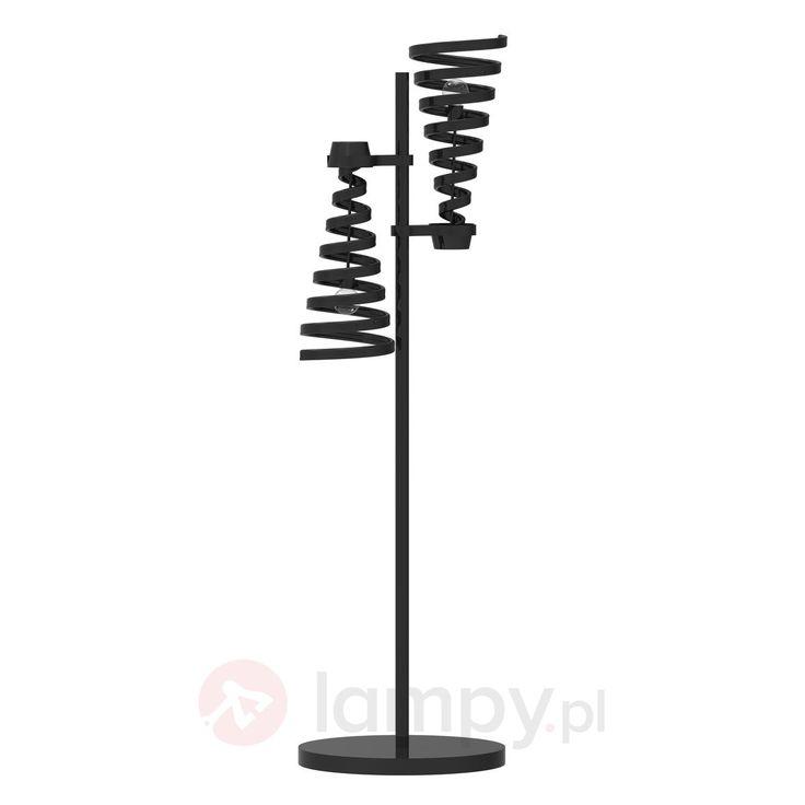 2-punktowa lampa stojąca TWISTER, czarna 9656029