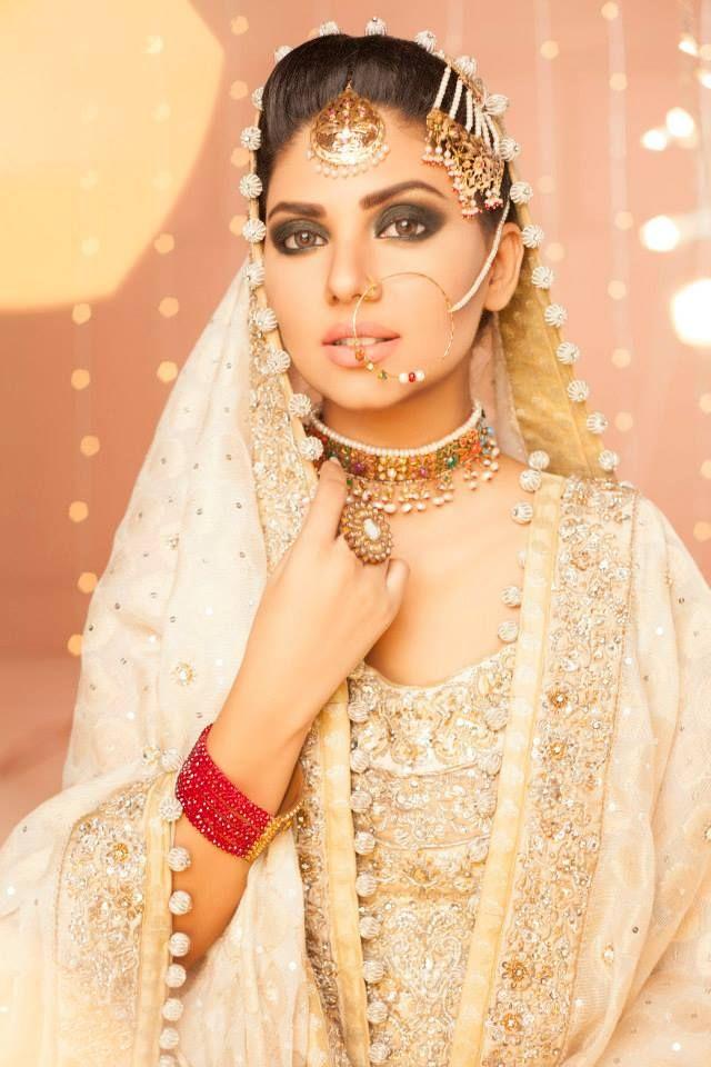 Makeup by Wajid Khan http://www.pinterest.com/GlobaleMag/bridal-wear-dresses-for-weddings-wedding-dresses/
