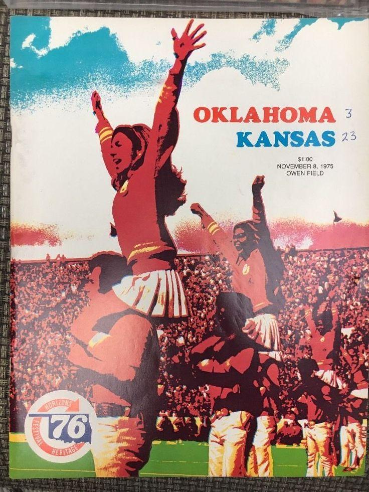 Oklahoma Sooners 1975 Kansas Football Program #OklahomaSooners