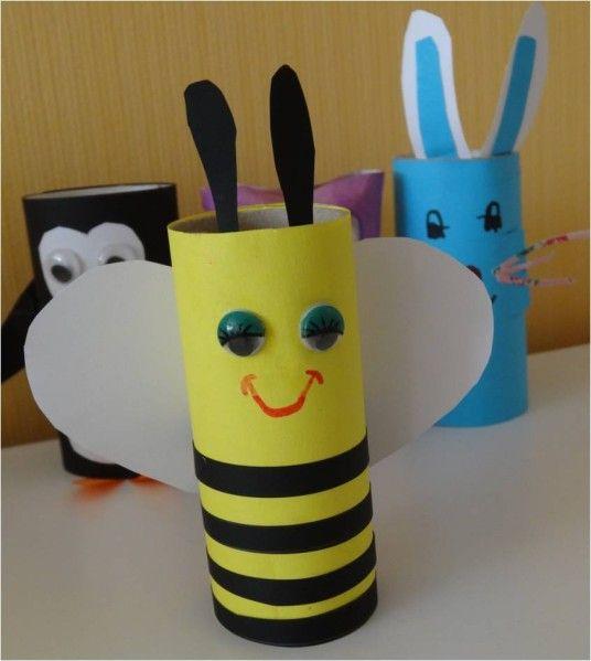 abeille en rouleau papier toilette