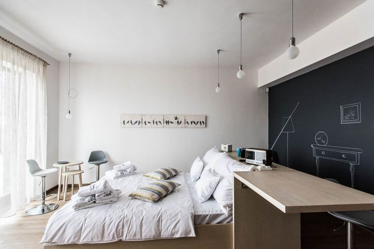 Natura Hill Zebegény, Hungary Hungary Pension interior, country-modern style, Poppy room - white and dark grey chalkboard, handmade decoration, wooden furnishing