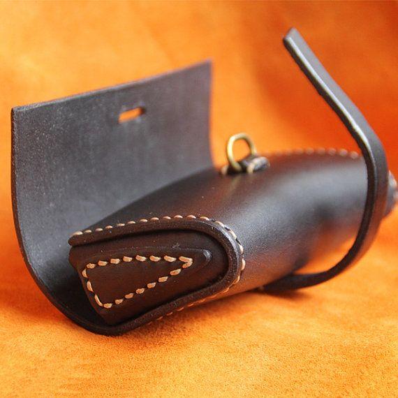 Tapa costura Vintage funda gafas gafas de sol por FocusmanLeather