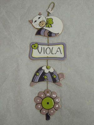 ceramica come mestiere: Regali personalizzati per bambini.