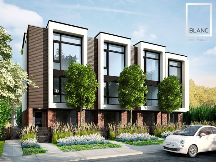 Luxury Vancouver BLANC Modern Townhouses for sale by The Airey Group Developers. Comments 단지 저층부 이렇게 하면 멋질듯