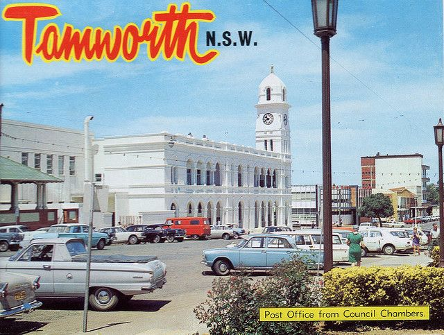 An old Post Card of Tamworth Post Office