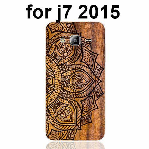 Mandala on wood prints cell phone case cover for Samsung Galaxy J1 J2 J3 J5 J7 MINI ACE 2016 2015 ON5 ON7