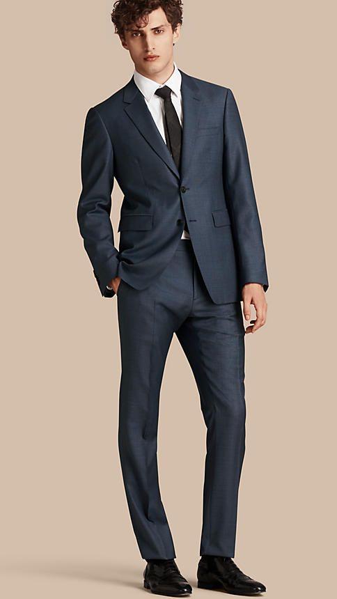 Blu avio Abito Travel Tailoring dal taglio moderno in lana - Immagine 1
