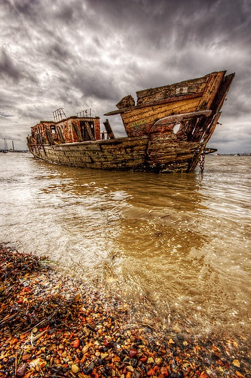 Shipwreck, shot by Rafferty Evans. #wrecks, #ships, #seascape