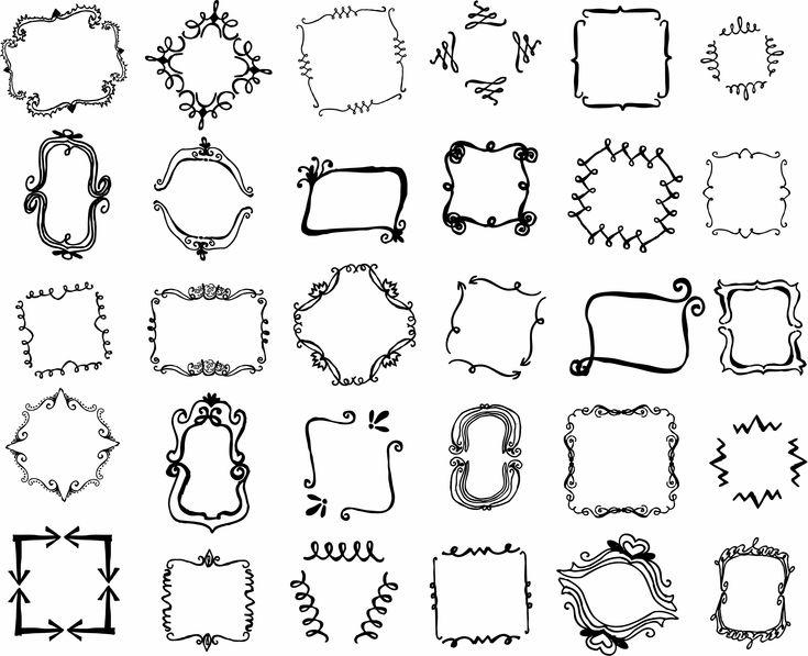 Hand Drawn Vector Frames