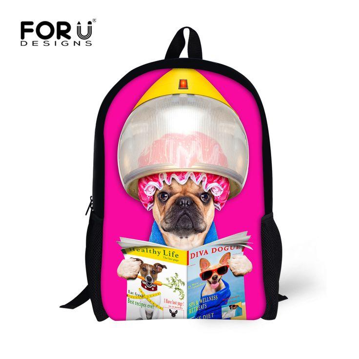 16 inch Children Backpacks Designer Animal Dog Printing ...