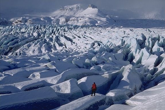 Iceland is known for its glaciers with tongue-twisting names. Breiðamerkurjökull is in the southeastern part of the country.