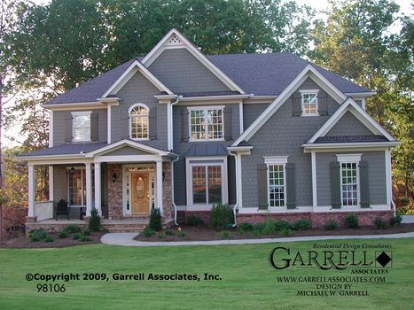 Astoria house plan house plans by garrell associates How much to build a craftsman style home